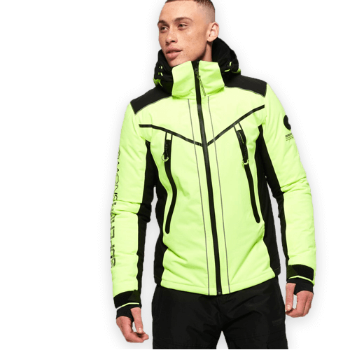New collection of men's ski clothes.